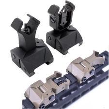 Folding Flip up Front Rear Sight Iron Sight Set Dual Diamond Shape for 20mm Rail