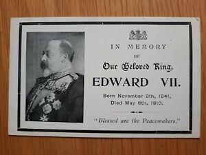 Edward VII Postcard In Memory Of Our Beloved King