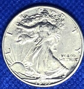 1943-D WALKING LIBERTY HALF DOLLAR - AU/UNC