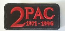 2 PAC 1971 - 1996 PATCH IRON ON SEW ON EMBROIDERED PATCH  HIPHOP RAP MUSIC