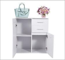 Modern Double Door Cabinet Bathroom Cupboard Wheeled Drawer Large Capacity New
