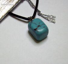 Collier cuir avec Pendentif Turquoise Howlite