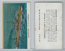 R169 Cameron Sales, Warships, 1942, #60 Destroyer, U.S.S. Worden
