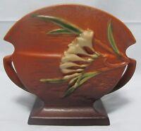 Roseville Freesia Fan Vase no. 199-6