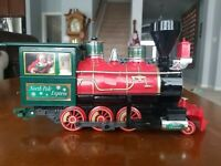 EZTEC Christmas The North Pole Express Train Locomotive Battery Powered G Scale
