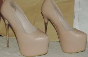 Extreme megahohe 16,5 cm Sky Stiletto High Heels, Pumps von Exist Gr. 39