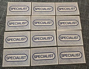 Operation Game 1996 Hasbro UK Ltd - Spare Parts - Specialist Cards (12)
