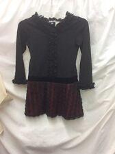 EUC! LITTLE GIRLS ISOBELLA & CHLOE DRESS BLACK& RED, SIZE 8