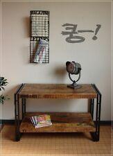 Regal Holzregal Lowboard Beistelltisch Holz Metall antike Vintage Optik Landhaus