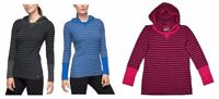 NEW Marc New York Women's Long Sleeve Hooded Thermal Pullover Shirt- VARIETY