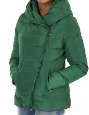 GENUINE WOMENS ARMANI JEANS GREEN DOWN DIAGONAL ZIP JACKET UK 8