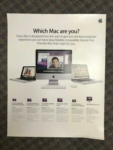 """""""Which Mac are you?"""" poster from Apple Computer - Macintosh - from 2009"""
