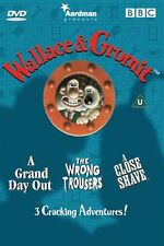 Wallace and Gromit Three Cracking Adventures Nick Park Brand New Sealed DVD