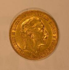 1911 Prussian (Germany) gold 20 Mark coin for Wilhelm II