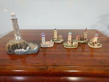 Harbour Lights Longships England #193 Lighthouse & 5 Miniature Lighthouses