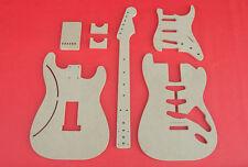 """Vintage Stratocaster Guitar Router Template Set wNeck CNC Strat 1/2"""" MDF Strat"""