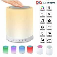 Portable LED Bluetooth Speaker Wireless Colorful Night Light Touch Sensor Lights