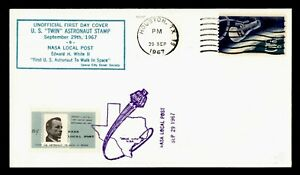 DR WHO 1967 HOUSTON TX SPACE NASA LOCAL POST TWIN ASTRONAUT STAMP  g42054