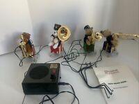 Mr Christmas animated Bear Brass Band works 21 Christmas Carols