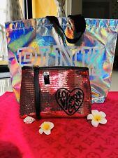 Set Victoria's Secret Cosmetic Makeup Bag + Pink Tote Shopping Bag Brand New