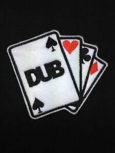 Dub Playing Cards JDM Embroidered Badge Patch Iron on or Sew on