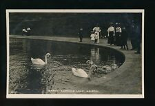 Gloucestershire Glos BRISTOL Eastville Lake feeding Swans c1900/10s? RP PPC