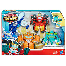 Rescue Bots ACADEMY 4 PACK - WHIRL , HOIST , HOT SHOT , WEDGE - FAST POST