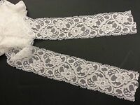 EL2- 3m x 60mm IVORY WHITE Vintage ELASTIC Lace Bridal Wedding Trim Ribbon CRAFT