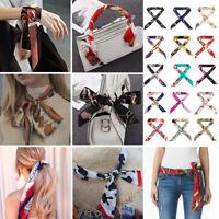2Pcs Women Small Silk Scarf for Bag Handle/Headband/Neckerchief/ Wristband
