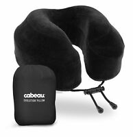 New Cabeau Evolution Memory Foam Travel Pillow w/ Washable Cover, Bag & Earplugs