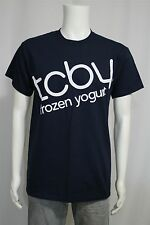 Adult MEDIUM  The Country's Best Yogurt TCBY Frozen Yogurt Navy SS T-shirt