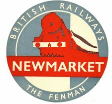 More details for british railways luggage label - the fenman - newmarket