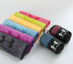 UNDER ARMOUR Towels Tennis Basketball Baseball Golf Bath Gym Cotton Towel BLUE