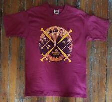 Vintage ZZ Top 1999 XXX Tour Concert Shirt Photo / Tour Dates Large Minty Maroon
