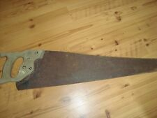 "antique handsaw 29"" L w/ wheat symbol carved in the handle, saw blade 26"" L"