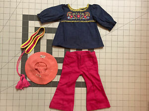American Girl Doll JULIE Tunic Outfit pants shoes belt  top Retired