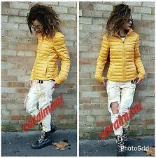 Zara NEW MUSTARD YELLOW DOWN ULTRALIGHT PUFFER Jacket SIZE S