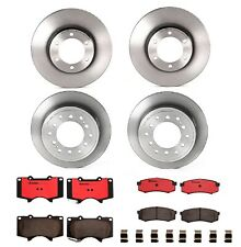 For Lexus GX470 Toyota 4Runner Front & Rear Disc Brake Rotors w/ Pads Brembo