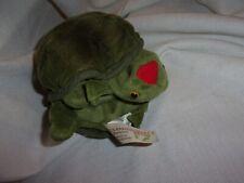 """Folkmanis plush Hand Puppet Baby Turtle tortoise full body shell 8"""""""