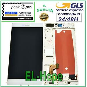 DISPLAY LCD + FRAME HUAWEI P8 GRA-L09 TOUCH SCREEN VETRO MONITOR SCHERMO BIANCO