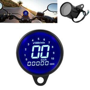 Universal Motorcycle Digital LCD LED Odometer Speedometer Tachometer Speed Gauge