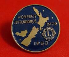 Vintage Lions Club 1979-80 Perfect Attendance Pin