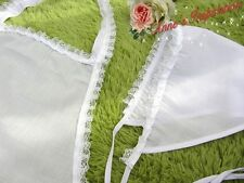 SET~Vintage Style~Ruffled Lace Apron+Triangle Hair Covering~White~Maid Costume~