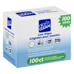 Nice 'N Clean 100 LENS WIPES Pre-Moistened Non-scratching Non-streaking Anti-Fog
