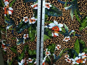 cotton jersey lycra    tropical  floral and leopard