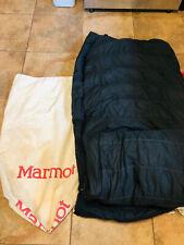 Vintage Marmot Goose Down Sleeping Bag Camping Hiking with Storage Bag Zipper