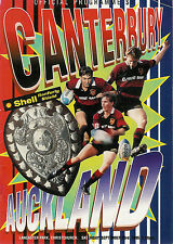 Canterbury  v Auckland RANFURLY SHIELD 23 Sep 1995 Christchurch RUGBY PROGRAMME