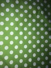 "Garnet Hill ""French Dot"" Cotton Fabric Polka Dot Shower Curtain Green 72"""
