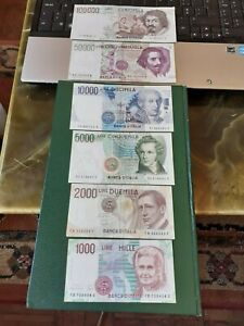 Lot of lires Itália bank notes very good condition