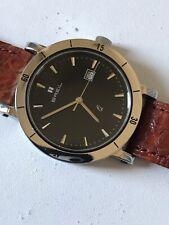 Rare Vintage Breil Captain Wrist Watch 36mm Real Crocodile Strap